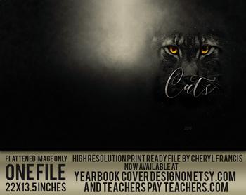 Wildcats 2018 yearbook cover design