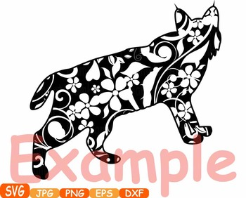 Wildcats cat cats mascot Jungle Animal Safari Flower SVG school Clipart zoo 375s
