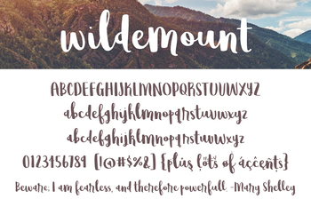 Wildemount Font for Commercial Use