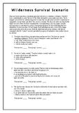 Wilderness Survival Scenario Quiz and Key