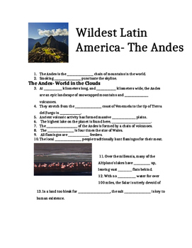 Wildest Latin America - Movie Guide