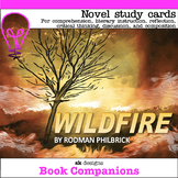Wildfire Novel Study Discuss, Reflect, Write, Classroom &