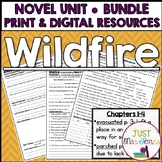 Wildfire Novel Unit | Distance Learning