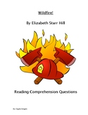 Wildfire! Reading Comprehension Questions and Book Test
