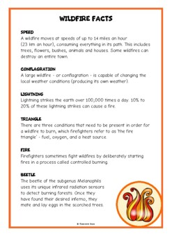 Wildfires Fact Cards