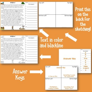 Wildfires Reading Comprehension for Active Learners