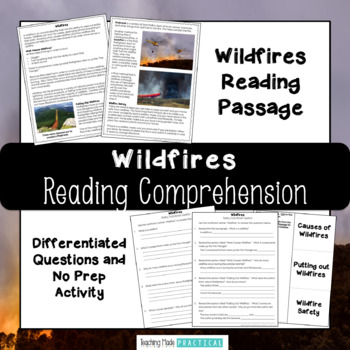 Wildfires Reading Comprehension with Differentiated Questions