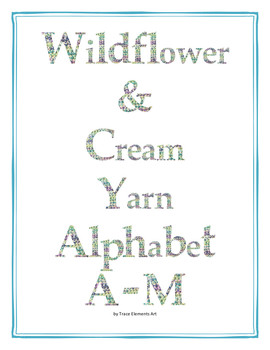 Wildflower & Cream Yarn Alphabet Clip Art Set 1 (Capital A-M)