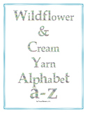 Wildflower & Cream Yarn Alphabet Clip Art Set 3 (Lowercase a-z)