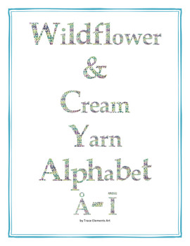 Wildflower & Cream Yarn Alphabet Clip Art Set 4 (Capital Special Characters 1)