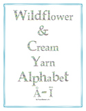 Wildflower & Cream Yarn Alphabet Clip Art Set 4 (Capital S