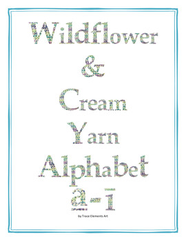 Wildflower & Cream Yarn Alphabet Clip Art Set 6 (Lowercase Special Characters 1)