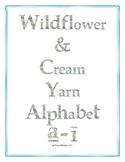 Wildflower & Cream Yarn Alphabet Clip Art Set 6 (Lowercase