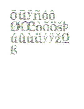Wildflower & Cream Yarn Alphabet Clip Art Set 7 (Lowercase Special Characters 2)