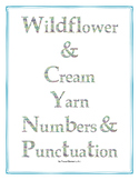 Wildflower & Cream Yarn Numbers and Punctuation Clip Art Set