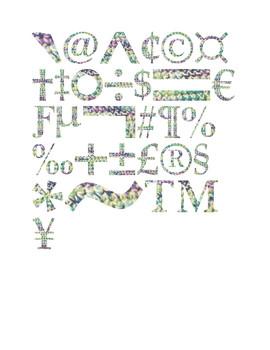 Wildflower & Cream Yarn Symbols Clip Art Set