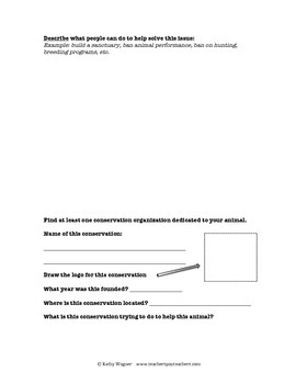 Wildlife Conservation - Research Packet