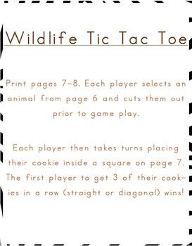 Wildlife PreK Game Pack