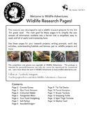 Wildlife Research Reading Pages