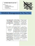 Wildlife Research Tic-Tac-Toe