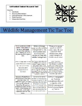Wildlife Research Tic-Tac-Toe