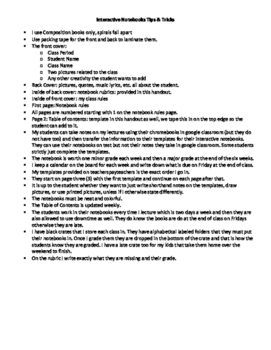 Interactive Notebook Tips & Tricks