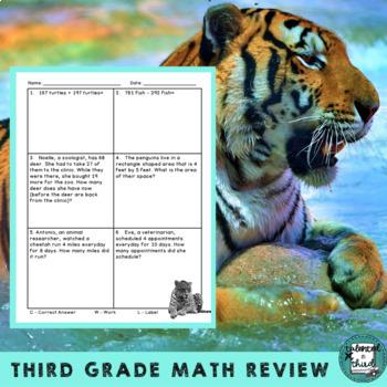 Daily Math Warmup Wildlife Theme