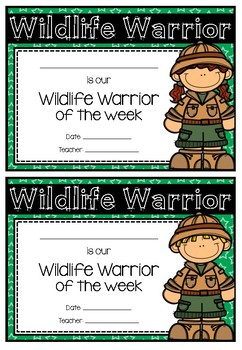 Wildlife Warrior Weekly Award