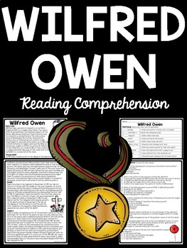 Wilfred Owen Biography Reading Comprehension Dulce Et Decorum Est