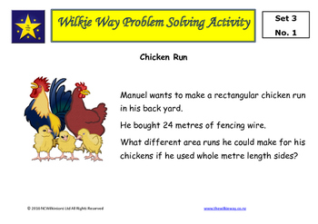 Wilkie Way Rich Learning Problems Set 3