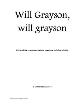 Will Grayson, Will Grayson teaching packet