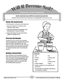 Will It Become Soil? (Properties of Earth Materials)