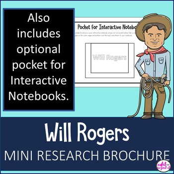 Will Rogers Study Research Bio Brochure Interactive Notebook