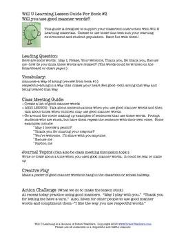 Will U Lesson Guide for Book 2