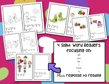 Valentine's Day Sight Word Reader - Will You Be Mine? K/1