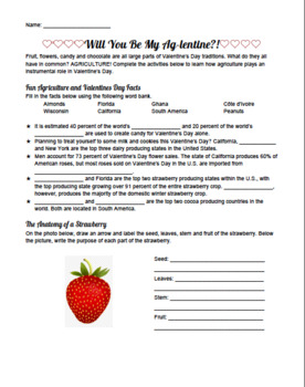Will You Be My Ag-lentine? Valentine's Day Agriculture Activity