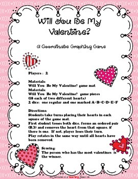 Will You Be My Valentine?  A Coordinate Graphing Game