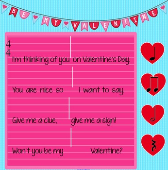 Will You Be My Valentine? - A song for sixteenth notes