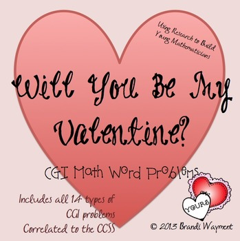 Will You Be My Valentine? CGI Math Word Problems