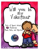 Will You Be My Valentine Parts of Speech Word Sort