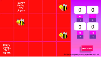 Will You Bee My Valentine Find the Bees Game Editable Template