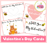 Will You Bee My Valentine- Valentine's Day Cards