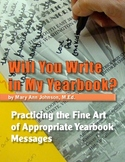 Will You Write in My Yearbook?