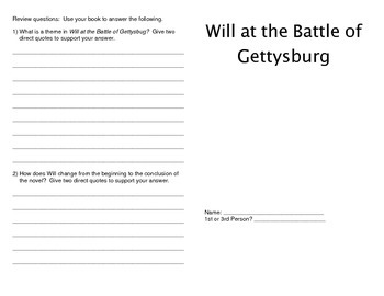Will at the Battle of Gettysburg Booklet by Laurie Calkhoven