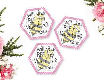 Will you bee my valentine? Kids classroom valentine's, honeycomb bee