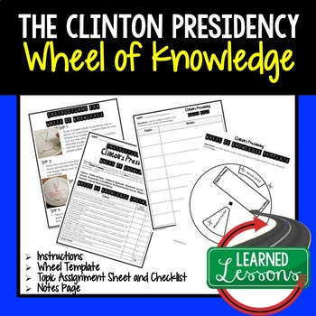 William Bill Clinton's Presidency Activity, Wheel of Knowledge