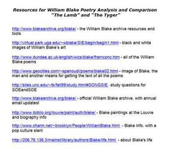 William Blake and His Art - Poetry Analysis and Comparison