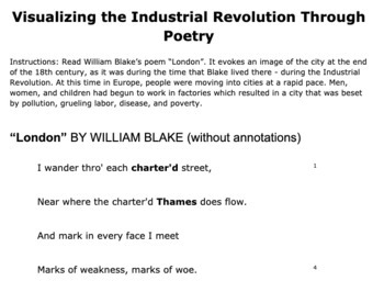 """William Blake's """"London"""": Visualizing the Industrial Revolution Through Poetry"""