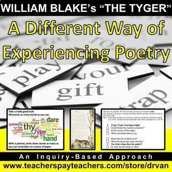 """William Blake's """"The Tyger"""" (Tiger): Inquiry-Based Approach (Critical Reasoning)"""