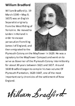 William Bradford Handout